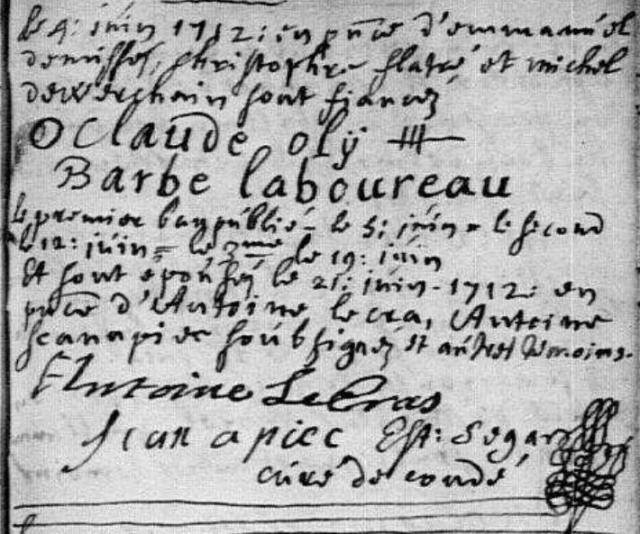 1712-06-21 mariage Oly-Laboureau
