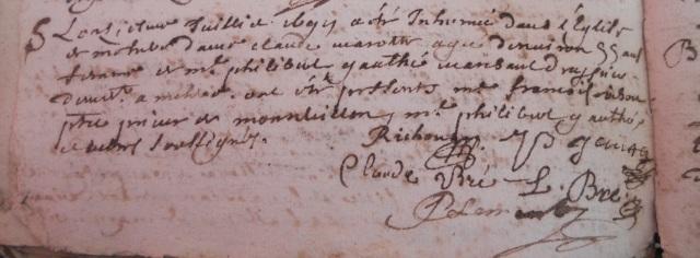 1699-07-11 décès Marotte Claude