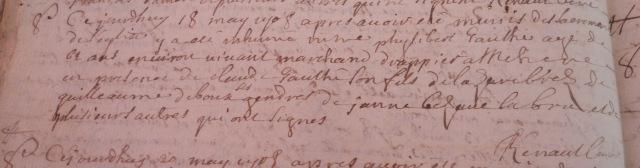 1708-05-18 décès Gauthé Philibert