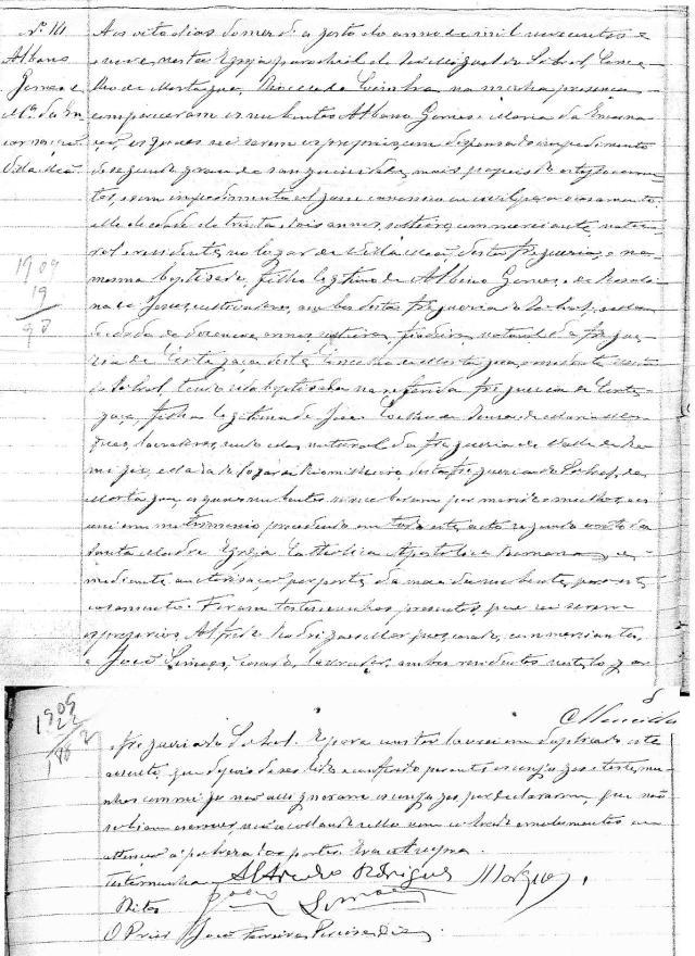 1909-08-08 mariage Gomes-da-Encarnação