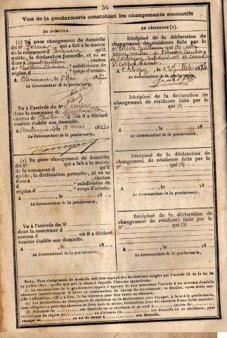 Livret militaire de Guillaume PERRIER - collection personnelle