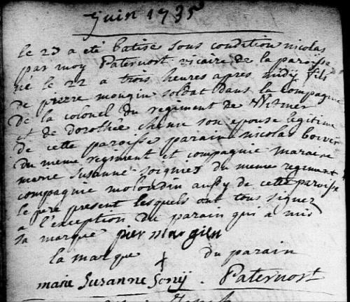 1735-06-22 naissance Mougin Nicolas