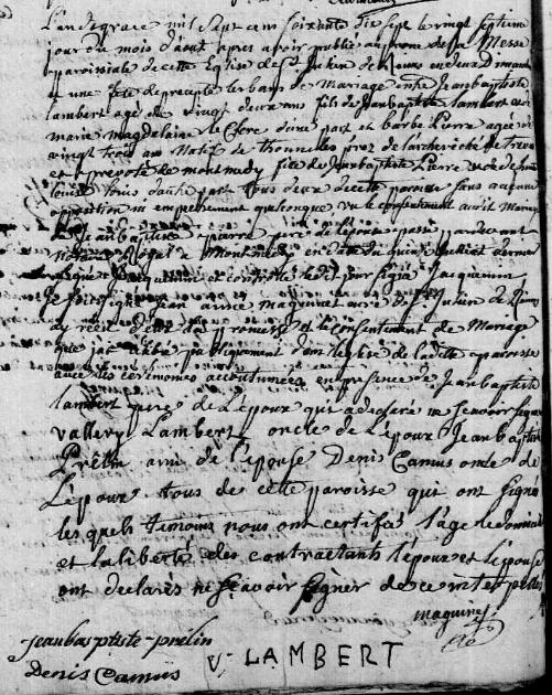 1777-08-27 mariage Lambert-Pierre