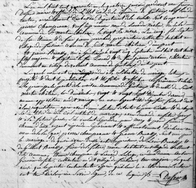 1841-01-14 mariage champeaux-benassy