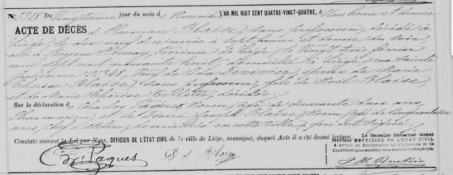 1884-11-20 décès Blaise Herman