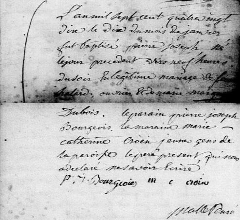1790-01-10 naissance Halard Pierre Joseph