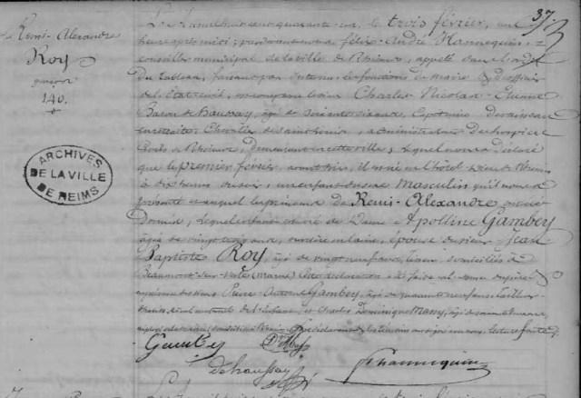 1841-02-01 naissance Roy Remi Alexandre