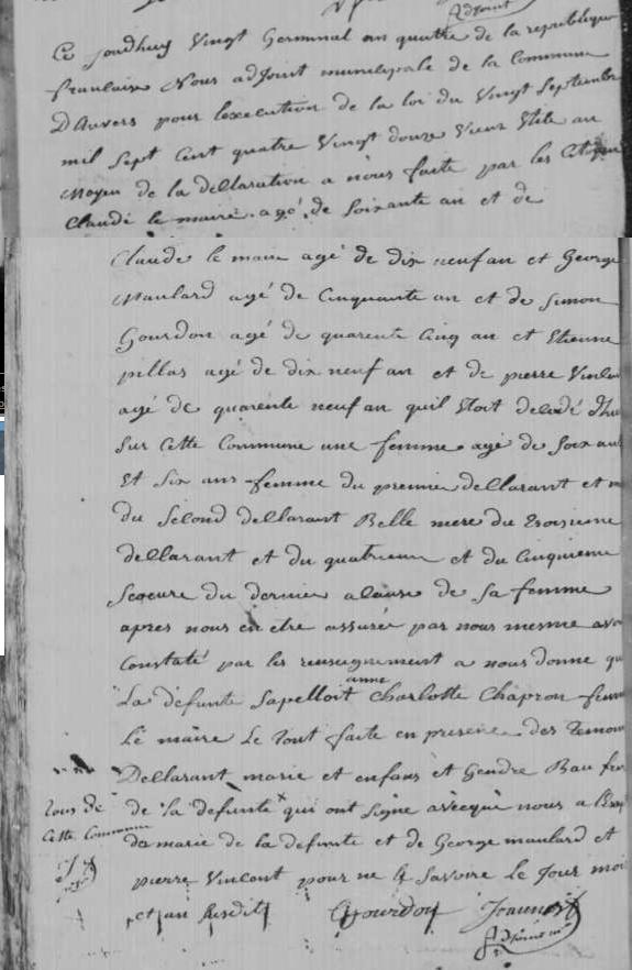 1796-04-09 décès Chapron Charlotte