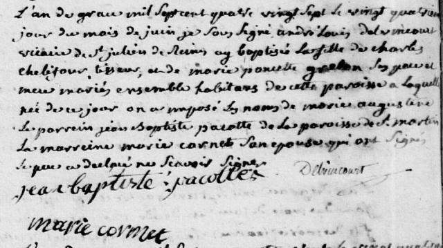 1787-06-24 naissance Chelifour Marie Augustine