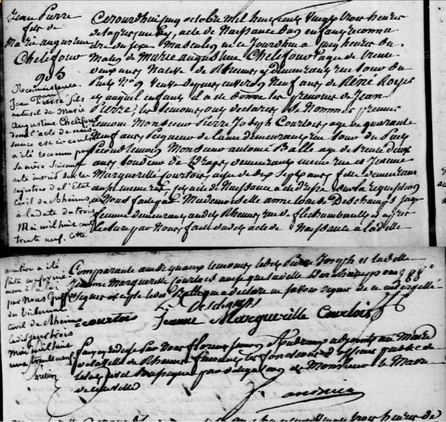 1820-10-04 naissance Chelifour Jean Pierre