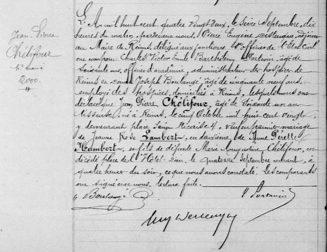 1882-09-14 décès Chelifour Jean Pierre