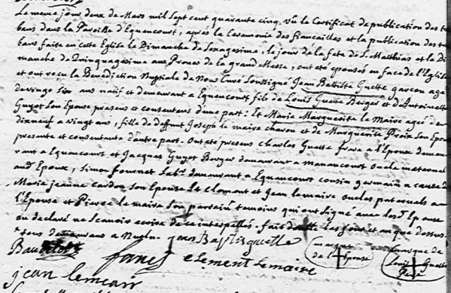 1745-03-02 mariage Guette-Lemaire