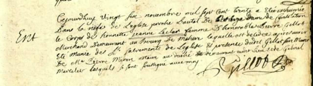 1730-11-26 décès Lecler Jeanne