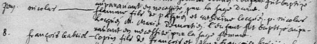 1687-03-06 naissance Flamme Nicolas