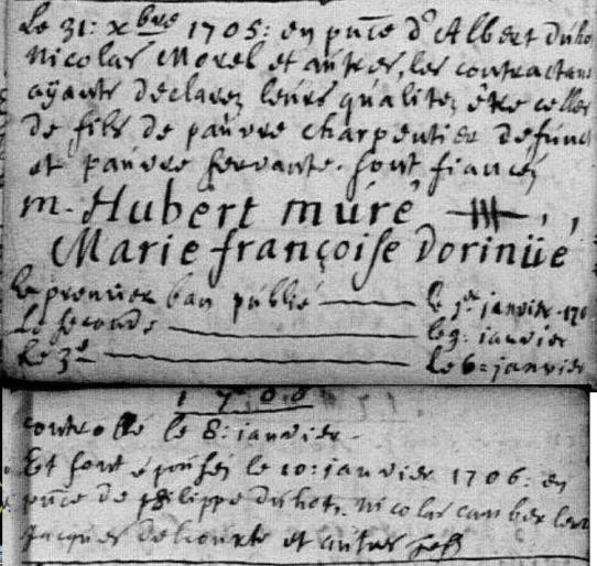 1706-01-10 mariage Muré-Dorinué