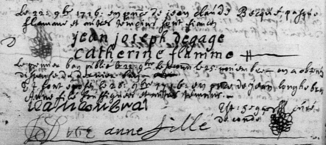 1716-11-26 mariage Degage-Flamme