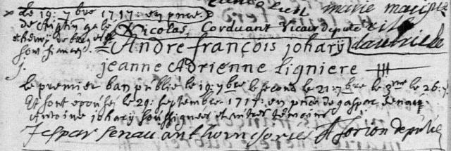 1717-09-29 mariage Johary-Ligniere