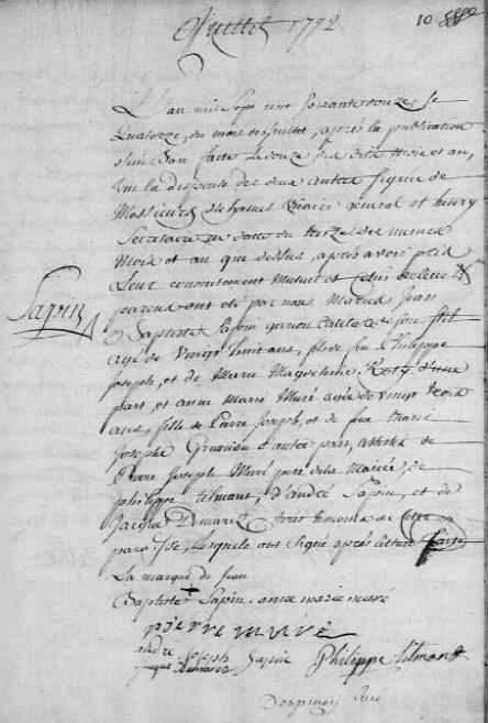 1772-07-14 mariage Sapin-Muré