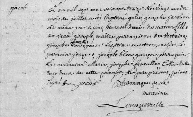 1773-07-21 naissance Jacob Julie Josephe