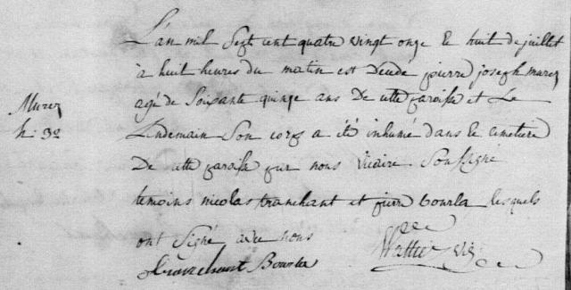 1791-07-08 décès Murez Pierre Joseph
