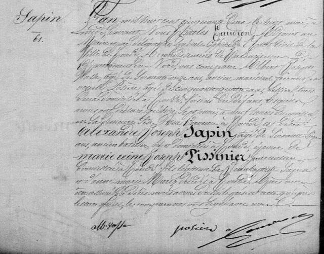 1852-05-08 décès Sapin Alexandre Joseph