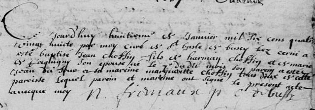 1688-01-07 naissance Choffin Jean
