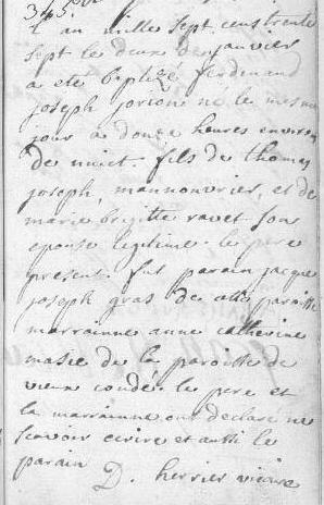 1737-01-02 naissance Jorion Ferdinand Joseph