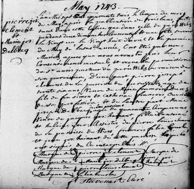 1743-05-05 mariage Clement-Delbecq