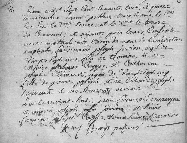1763-11-15 mariage Jorion-Clement