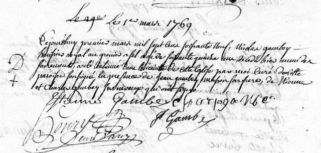 1769-03-01 décès Gambey Nicolas