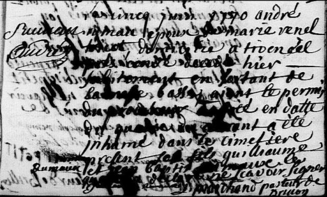 André 1770-06-05 décès Rimeau André