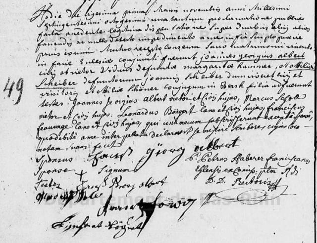 1780-11-21 mariage Albert-Scheiber