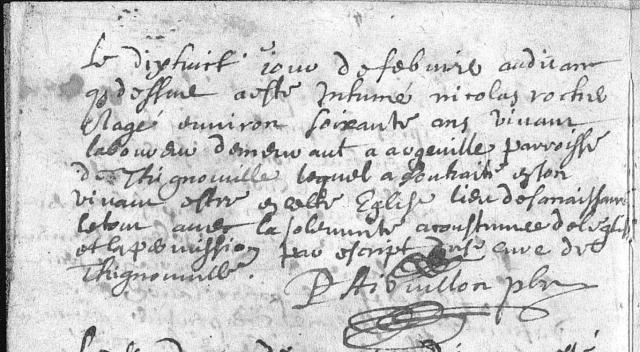 1670-02-18 décès Rocher Nicolas