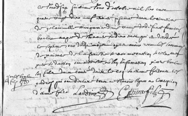 1699-10-08 décès Denise Marguerite