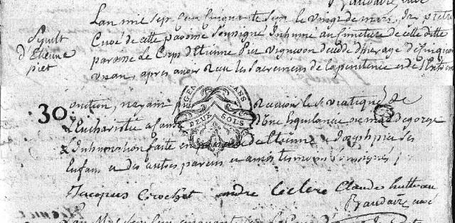 Esquinancie 1757-03-20 décès Piet Etienne
